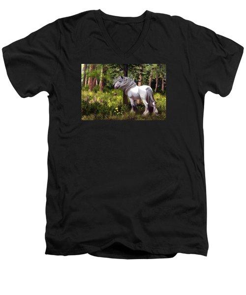 I Am Gonna Love You Forever Men's V-Neck T-Shirt by Kate Black