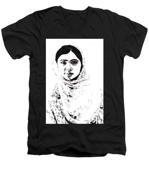 I Am Malala. Men's V-Neck T-Shirt