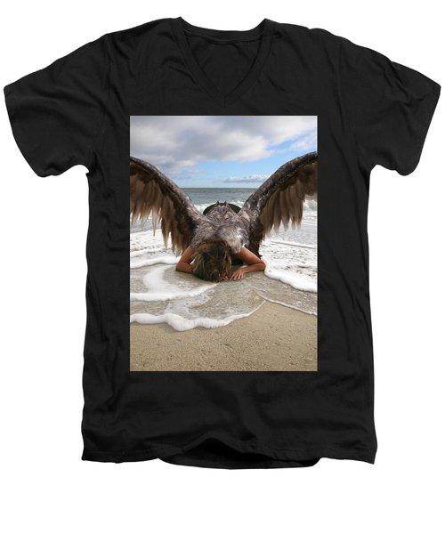 I Feel Your Sorrow  Men's V-Neck T-Shirt