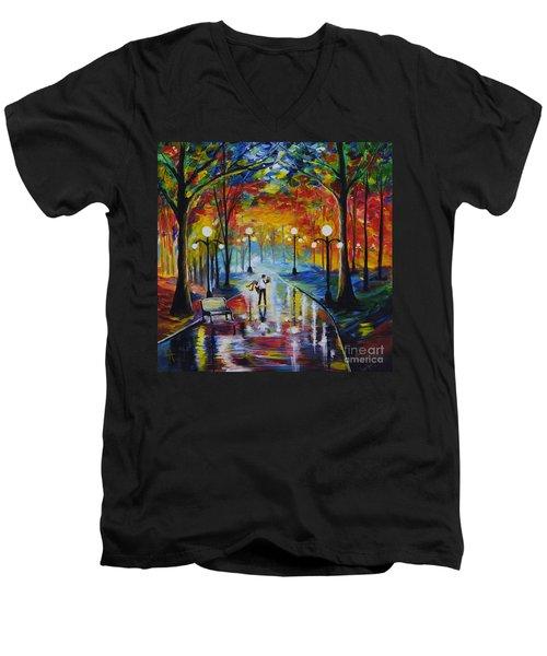 I Got You Babe Men's V-Neck T-Shirt by Leslie Allen