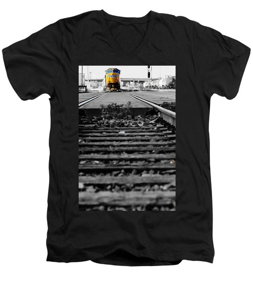 I Hear The Whistle Blowing Men's V-Neck T-Shirt