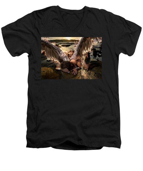 I Know The Sadness You Bear Men's V-Neck T-Shirt