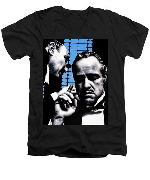 I Want You To Kill Him Men's V-Neck T-Shirt by Luis Ludzska