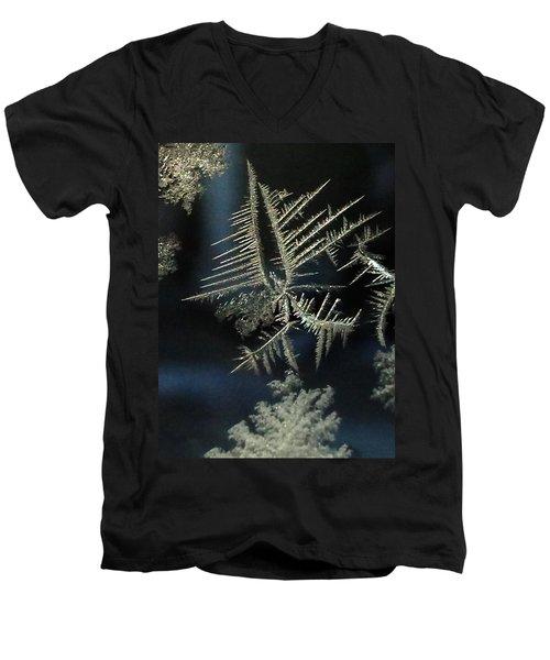 Ice Crystals Men's V-Neck T-Shirt