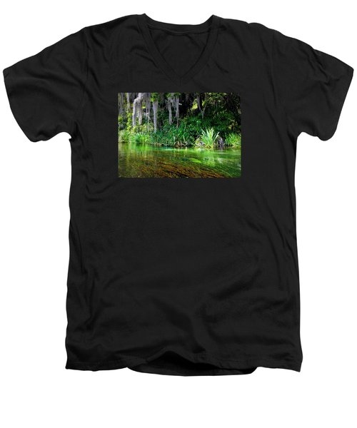 Ichetucknee Springs 1a Men's V-Neck T-Shirt