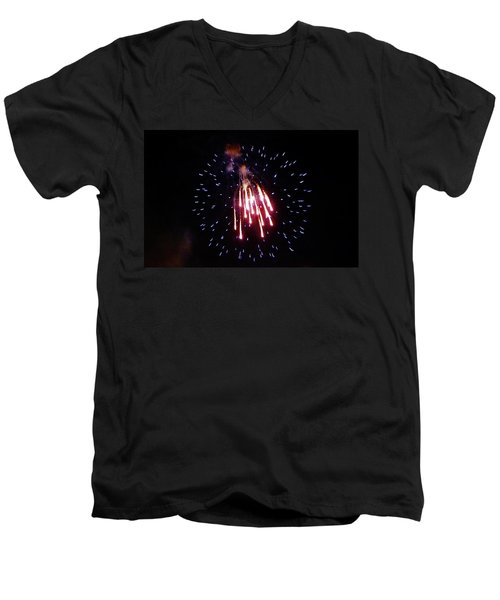 Men's V-Neck T-Shirt featuring the photograph Icicles by Amar Sheow