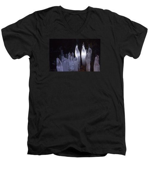 Icicles In A Cave Men's V-Neck T-Shirt