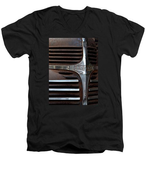 Men's V-Neck T-Shirt featuring the photograph Iconic Dodge Truck by Nadalyn Larsen