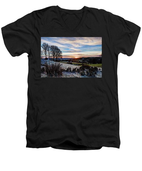 Icy Sunset Men's V-Neck T-Shirt