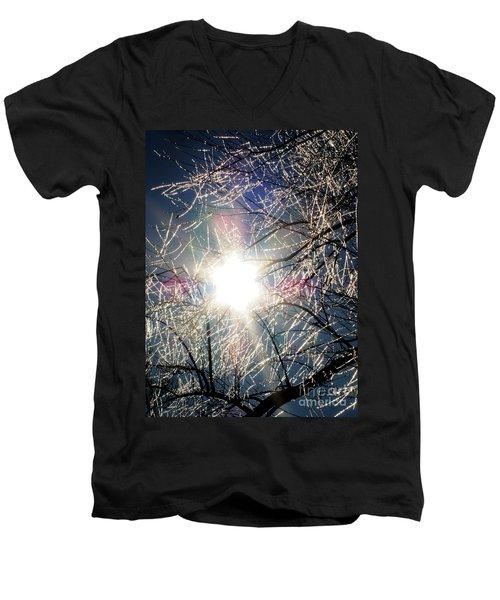 Icy Web Men's V-Neck T-Shirt