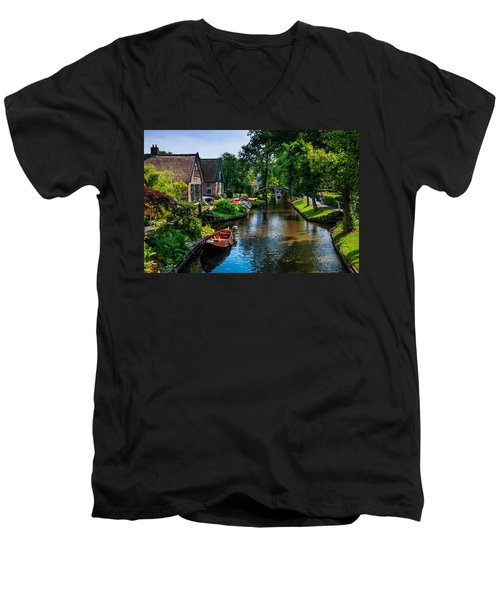 Idyllic Village 15. Venice Of The North Men's V-Neck T-Shirt