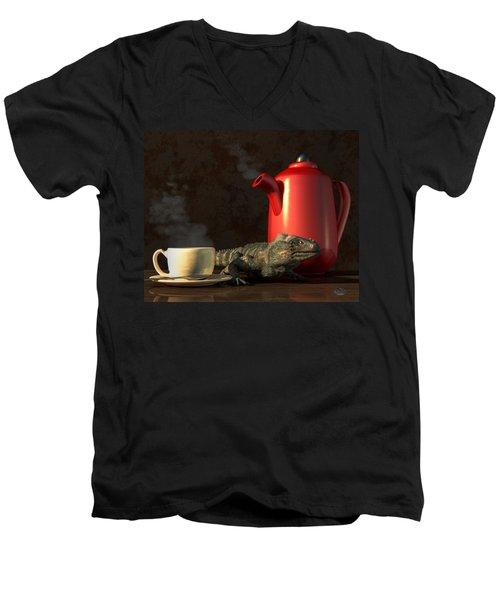 Iguana Coffee Men's V-Neck T-Shirt