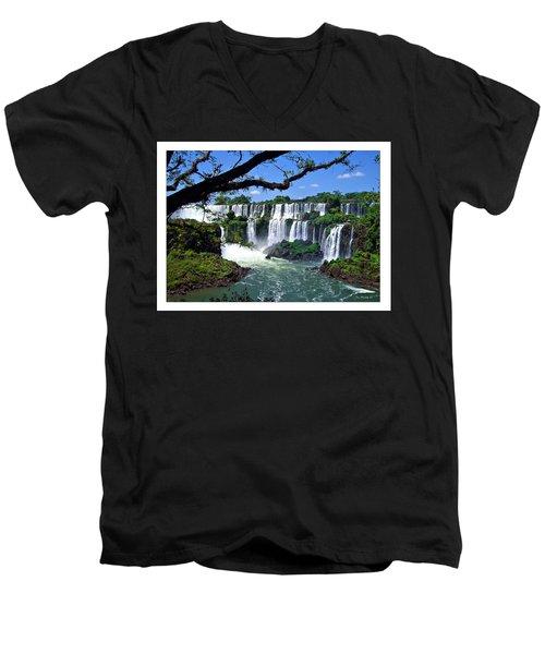 Iguazu Falls In Argentina Men's V-Neck T-Shirt