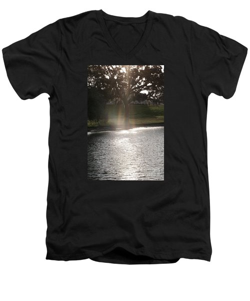 Illuminated Tree Men's V-Neck T-Shirt