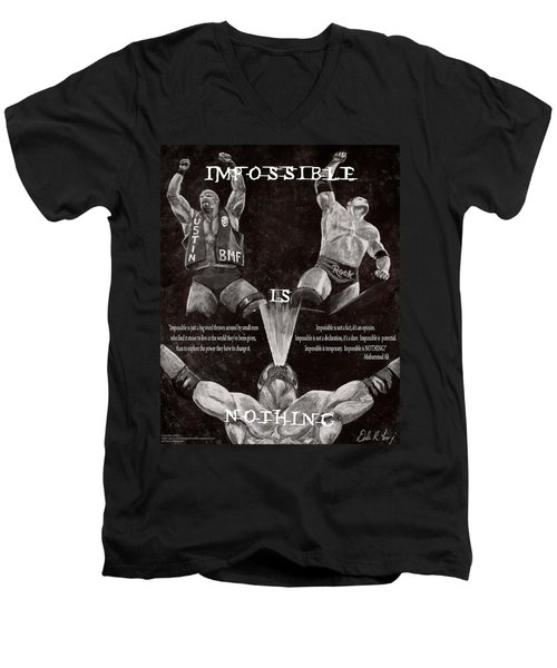 Impossible Is Nothing Men's V-Neck T-Shirt