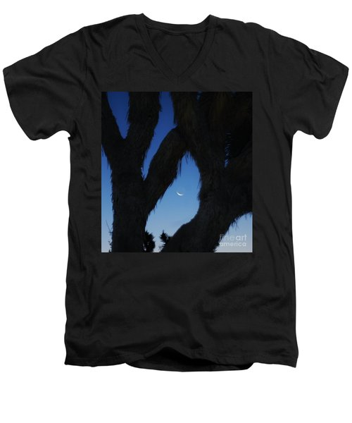Men's V-Neck T-Shirt featuring the photograph In-between by Angela J Wright