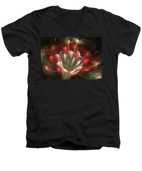In Bloom Men's V-Neck T-Shirt by Svetlana Nikolova