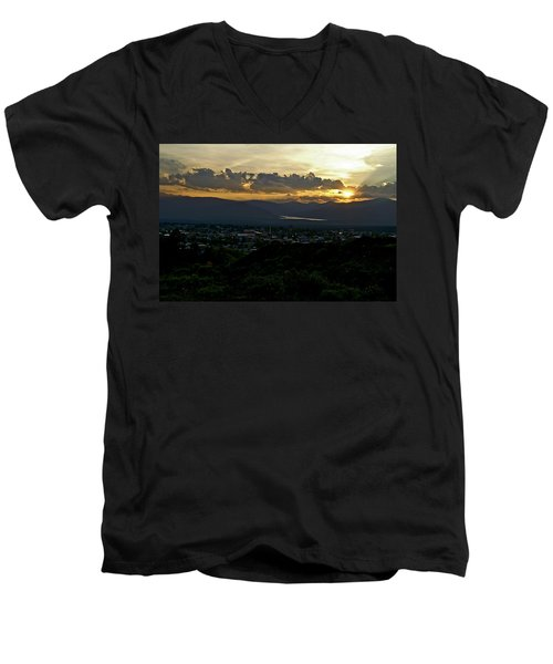 Men's V-Neck T-Shirt featuring the photograph In My Place by Jeremy Rhoades