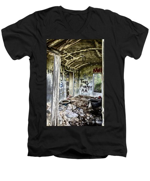 In Ruins Men's V-Neck T-Shirt by Erika Weber