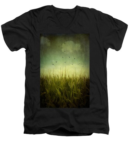 In The Field Men's V-Neck T-Shirt
