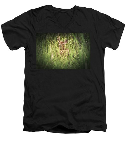 In The Tall Grass Men's V-Neck T-Shirt by Shane Holsclaw