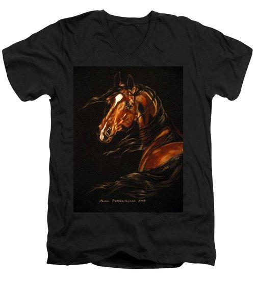 In The Wind Men's V-Neck T-Shirt by Leena Pekkalainen