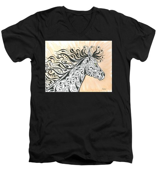 In The Wind Men's V-Neck T-Shirt by Susie WEBER