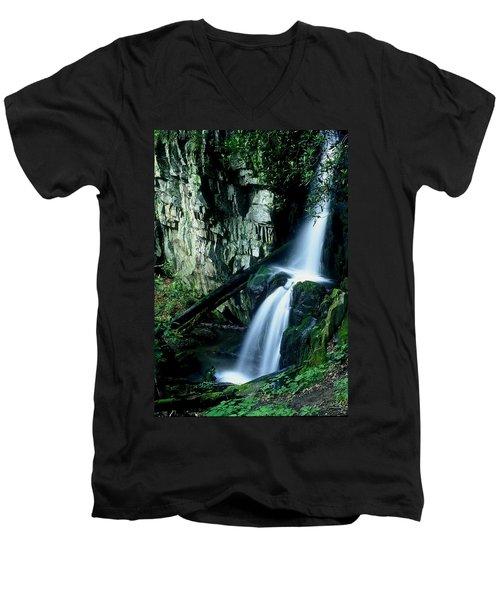 Indian Falls Men's V-Neck T-Shirt by Rodney Lee Williams