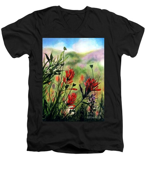 Indian Paint Brush Men's V-Neck T-Shirt