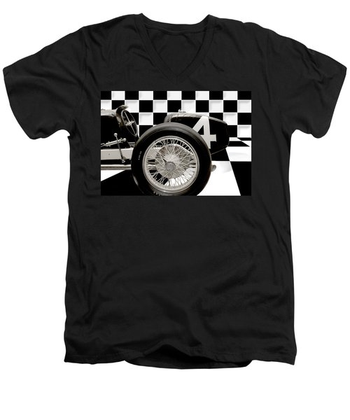 Indianapolis Motor Speedway Men's V-Neck T-Shirt by Gary Warnimont
