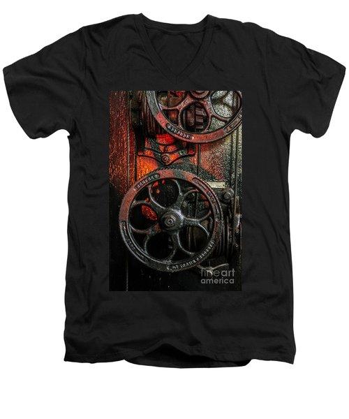 Industrial Wheels Men's V-Neck T-Shirt