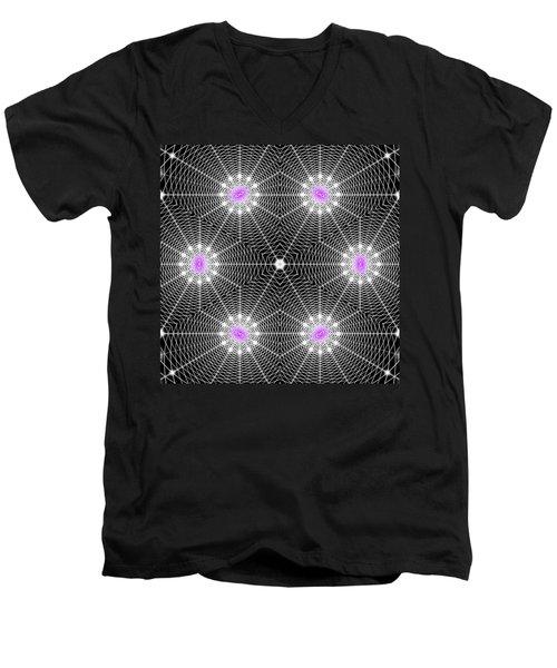 Infinity Grid Six Men's V-Neck T-Shirt