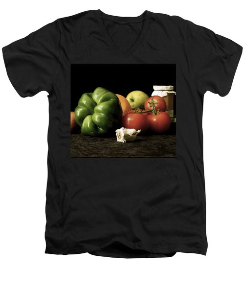 Men's V-Neck T-Shirt featuring the photograph Ingredients by Elf Evans