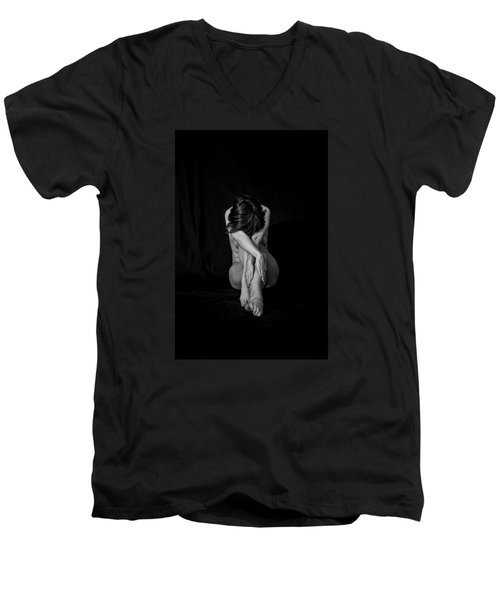 Inner Entanglements Men's V-Neck T-Shirt by Mez