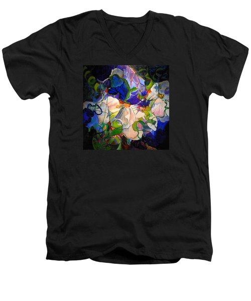 Men's V-Neck T-Shirt featuring the painting Inner Light by Georg Douglas