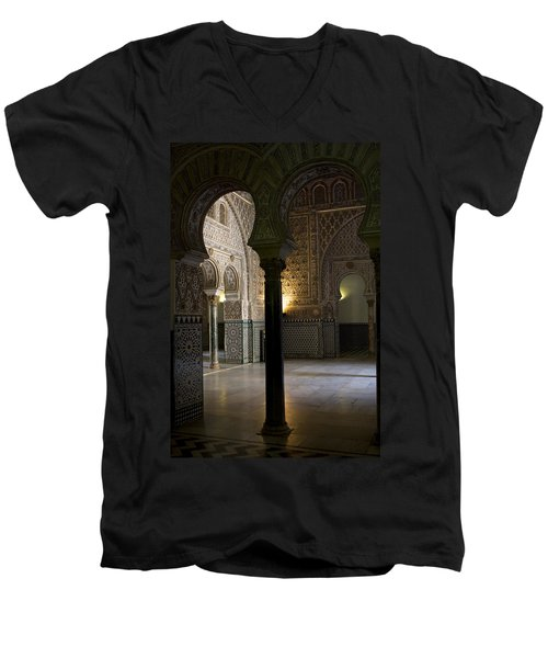 Inside The Alcazar Of Seville Men's V-Neck T-Shirt