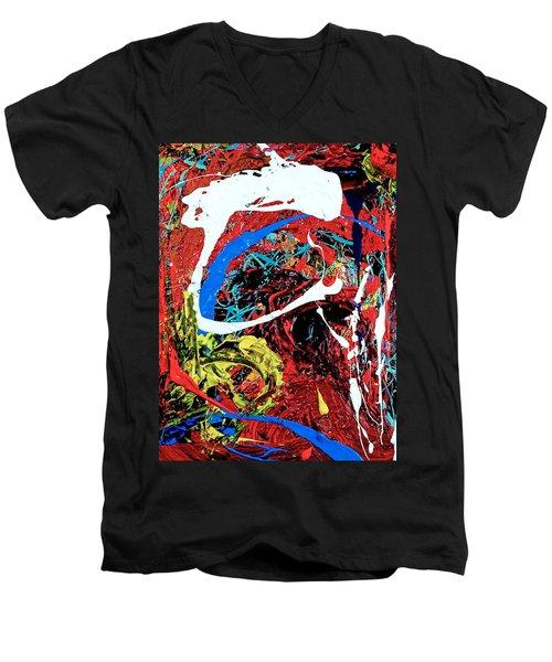 Inside The Big Fish Men's V-Neck T-Shirt by Elf Evans