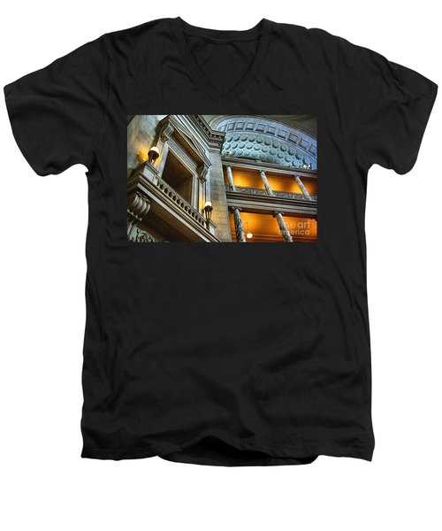 Inside The Natural History Museum  Men's V-Neck T-Shirt