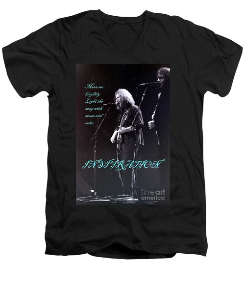 Men's V-Neck T-Shirt featuring the photograph Inspiration Move Me Brightly - Concerts -  Dead by Susan Carella