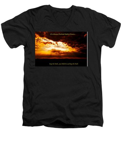 Inspirational It's Always Darkest Just Before Dawn Men's V-Neck T-Shirt