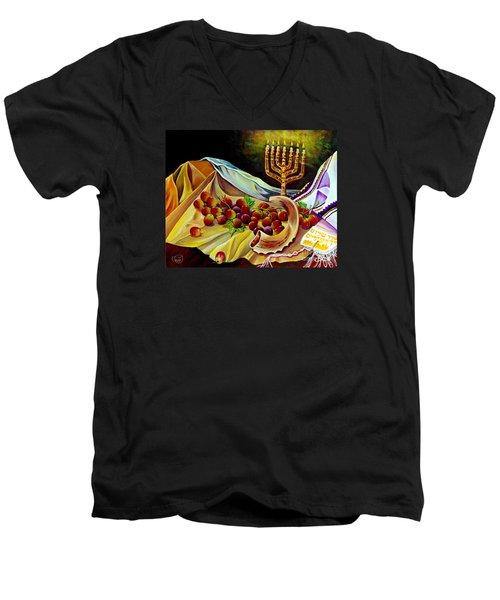 Intercession Men's V-Neck T-Shirt by Nancy Cupp