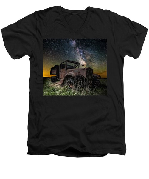 International Milky Way Men's V-Neck T-Shirt