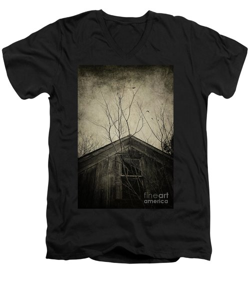 Into The Dark Past Men's V-Neck T-Shirt by Trish Mistric