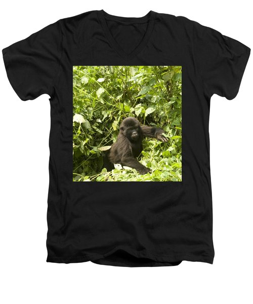 Men's V-Neck T-Shirt featuring the photograph Into The Light by Liz Leyden