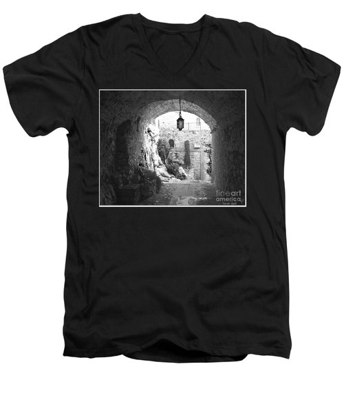 Men's V-Neck T-Shirt featuring the photograph Into The Light by Victoria Harrington
