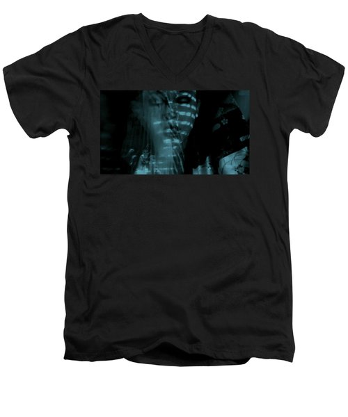 Men's V-Neck T-Shirt featuring the photograph Into The Lull  by Jessica Shelton