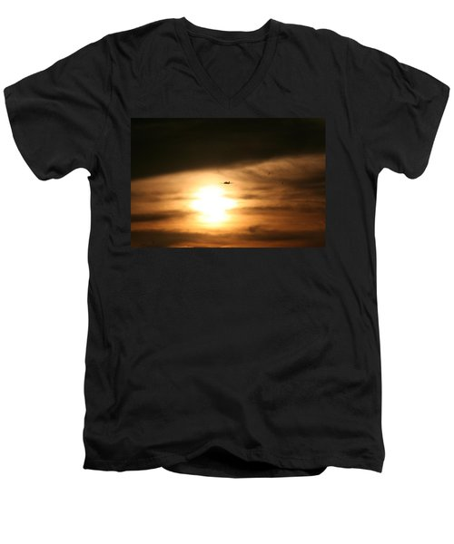 Men's V-Neck T-Shirt featuring the photograph Into The Sun by David S Reynolds
