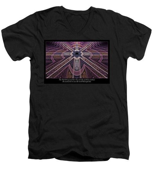 Into The World Men's V-Neck T-Shirt