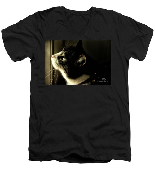 Intrigued Men's V-Neck T-Shirt by Shari Nees