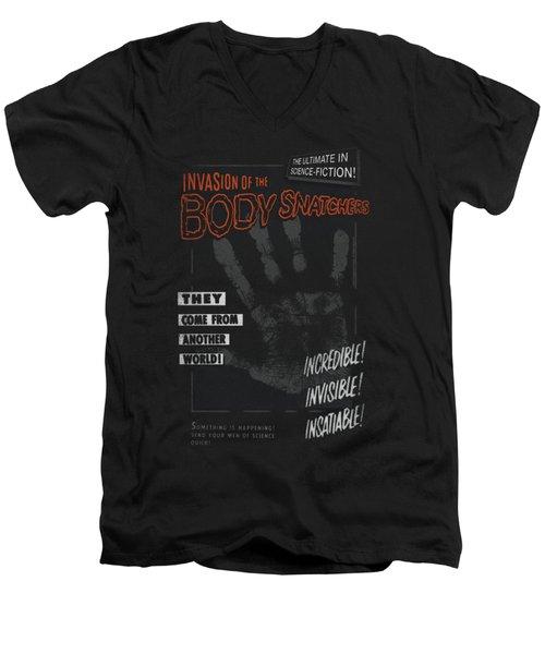 Invasion Of The Body Snatcher - Run Poster Men's V-Neck T-Shirt